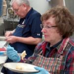 Stan Machosky & wife sampling pierogi